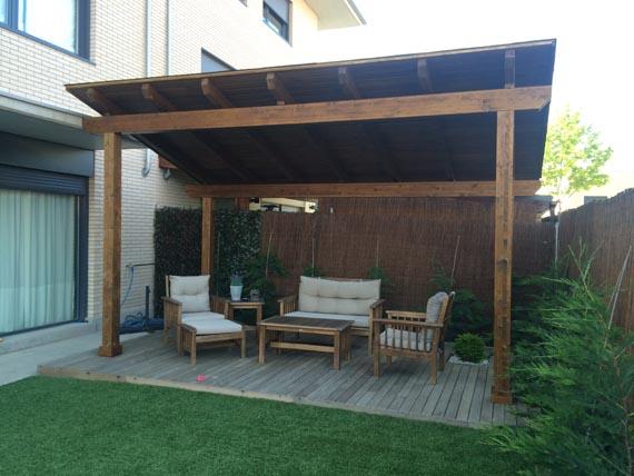Pergolas y cenadores de madera - Madera para porches ...