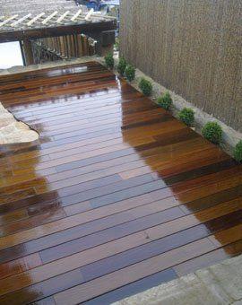 Tarima de exterior sintetica ipe terraza jardin piscina - Tarimas para terrazas ...